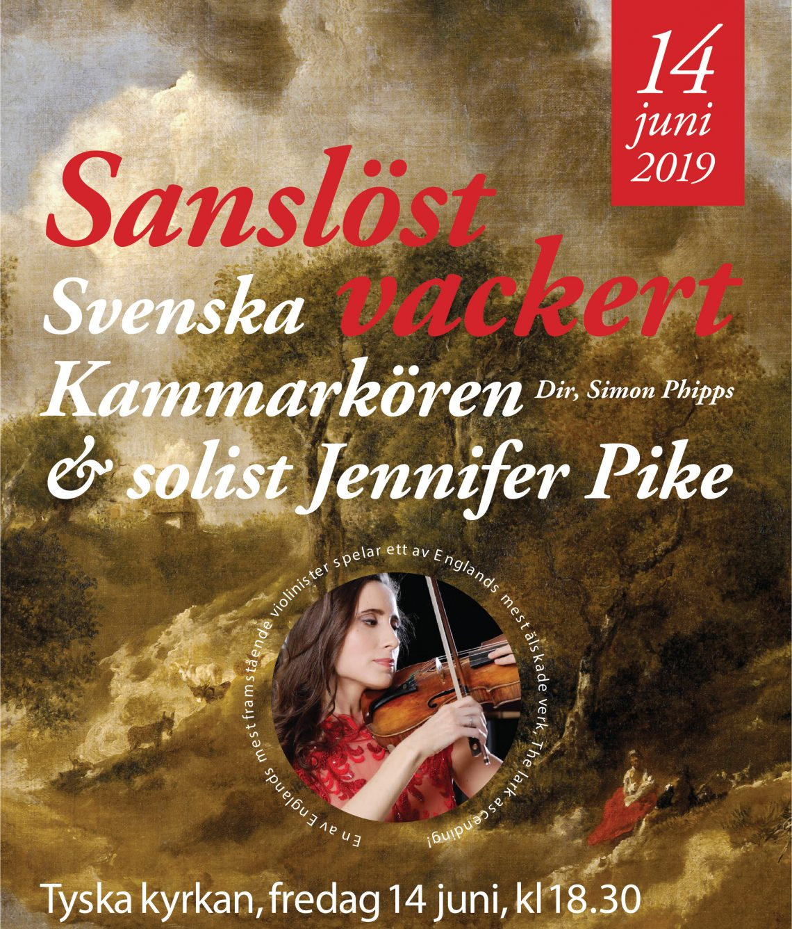 Konsertaffisch med Jennifer Pike